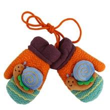 Mittens Kids Children Winter Snail Child Gloves For Boys Girls Cartoon Warm Whole Covered Fingers Halter Gloves