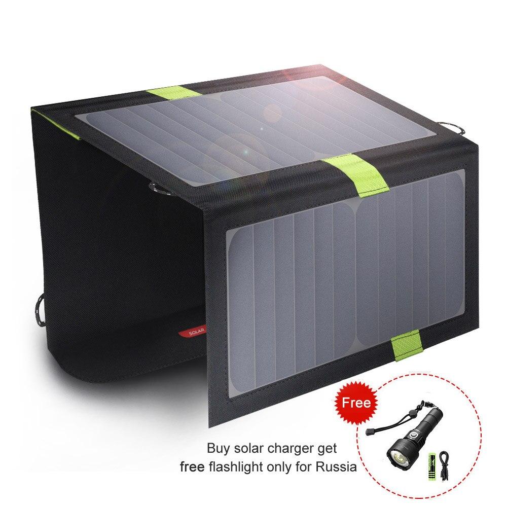 20W 5V Carregador de Telefone Solar de Saída Dual USB Portátil Painel Solar para iPhone Samsung Xiaomi Huawei Smartphones
