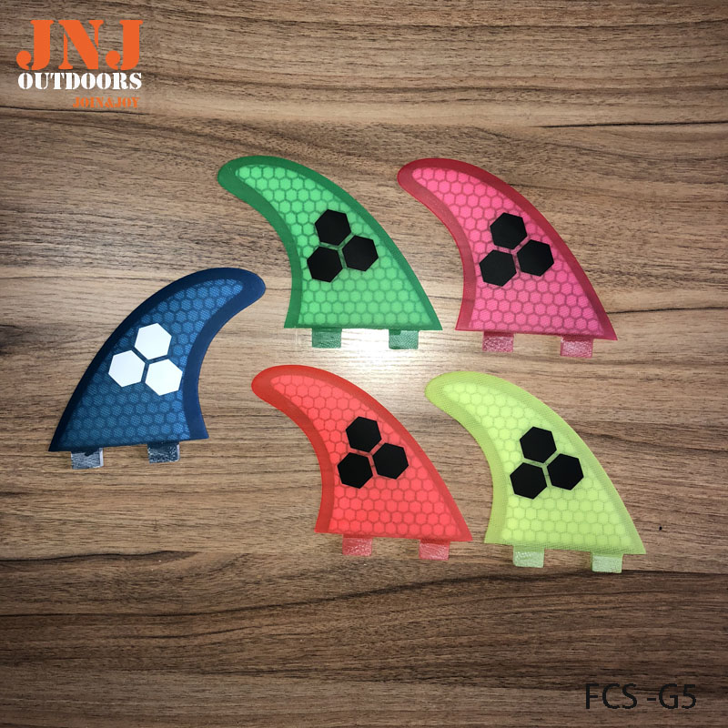 FREE shipping fiberglass and honeycomb blue FCS M G5 surfboard fin thruster FCS fin future fin