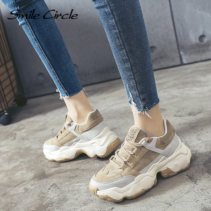 Smile Circle Women Sneakers Breathable