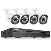 DEFEWAY 8CH HD 1080p HDMI DVR P2P IP Камера Открытый безопасности дома Камера POE Системы CCTV видеонаблюдения DVR комплект 4 Камера
