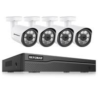 DEFEWAY 8CH HD 1080P HDMI DVR P2P IP Camera Outdoor Home Security Camera POE System CCTV Video Surveillance DVR Kit 4 Camera