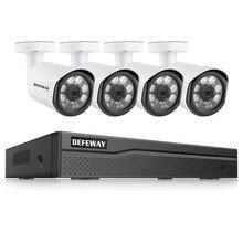 DEFEWAY видеонаблюдение PoE Комплект 4 шт. 2.0MP IP камера 8CH 1080 P HD NVR Открытый CCTV системы товары теле и видеонаблюдения для дома