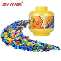 JOY MAGS DIY Building Blocks in Cute Bucket More 200 Creative Bucket Compatible with Lego Birthday Gift
