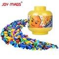 Revistas de alegría diy bloques de construcción en cubo lindo más 200 regalo de cumpleaños creativo cubo compatible con lego