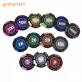 25 teile/los 14g Crown Weizen PokerClub Film Chips Münzen Baccarat Texas Hold'em Doppel Farbe Crown Ton Poker Chips qenueson