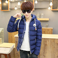 2017 Winter Jackets Men Casual Male Coats Hooded Cotton Fit Fashion Thicken Down Jackets parka High Quality Men's Slim Coat