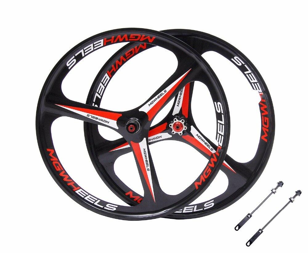 MTB 3 spokes wheels 26 mountain bike wheels Cassette 7 8 9 10 font b Speeds