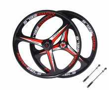 MTB 3 spokes wheels 26″ mountain bike wheels Cassette 7/8/9/10 Speeds magnesium alloy Mountain Bicycle Wheel parts bike rims