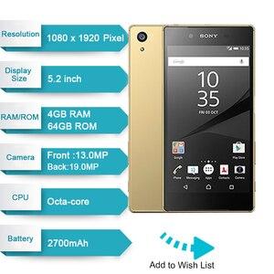 Image 2 - Sạc Xperia Z5 Nhật Bản Phiên Bản Ram 3GB Rom 32GB 23.0MP Camera GSM WCDMA LTE Android Octa Core 5.2 Inch