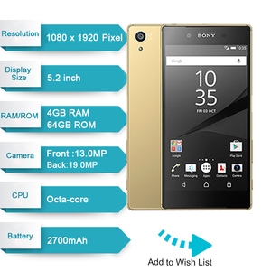 Image 2 - 元ソニーの Xperia Z5 日本語版 RAM 3 ギガバイト ROM 32 ギガバイト 23.0MP カメラ GSM 、 WCDMA 、 LTE Android オクタコア 5.2 インチ