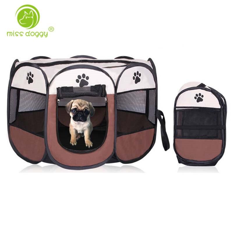 Portable pliant Pet tente parc chien chat clôture chiot chenil opération facile exercice jouer dans la maison ou en plein air facile à transporter