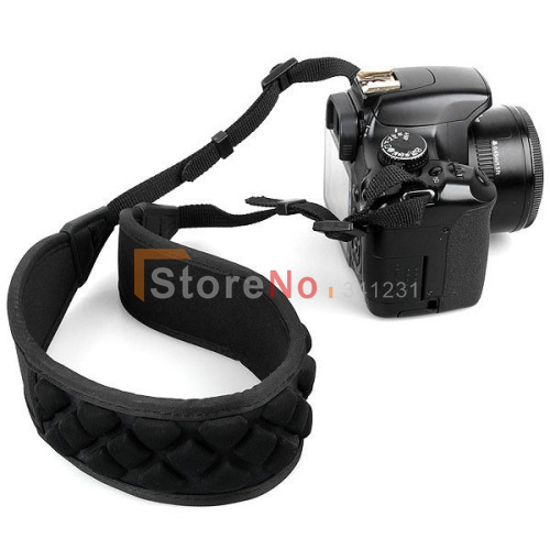 Black Camera Shoulder Neck Strap Air Cell Cushion Pad for canon nikon pentax