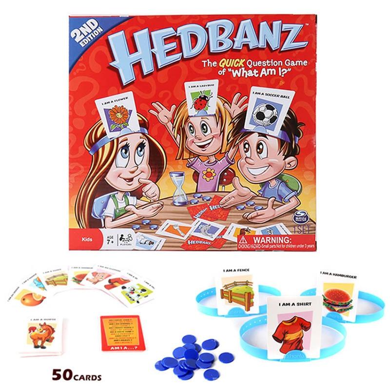 HedBanz игра второе издание с Фирменная Новинка карты быстрый вопрос, что я карточная игра забавные гаджеты Новинка игрушечные лошадки