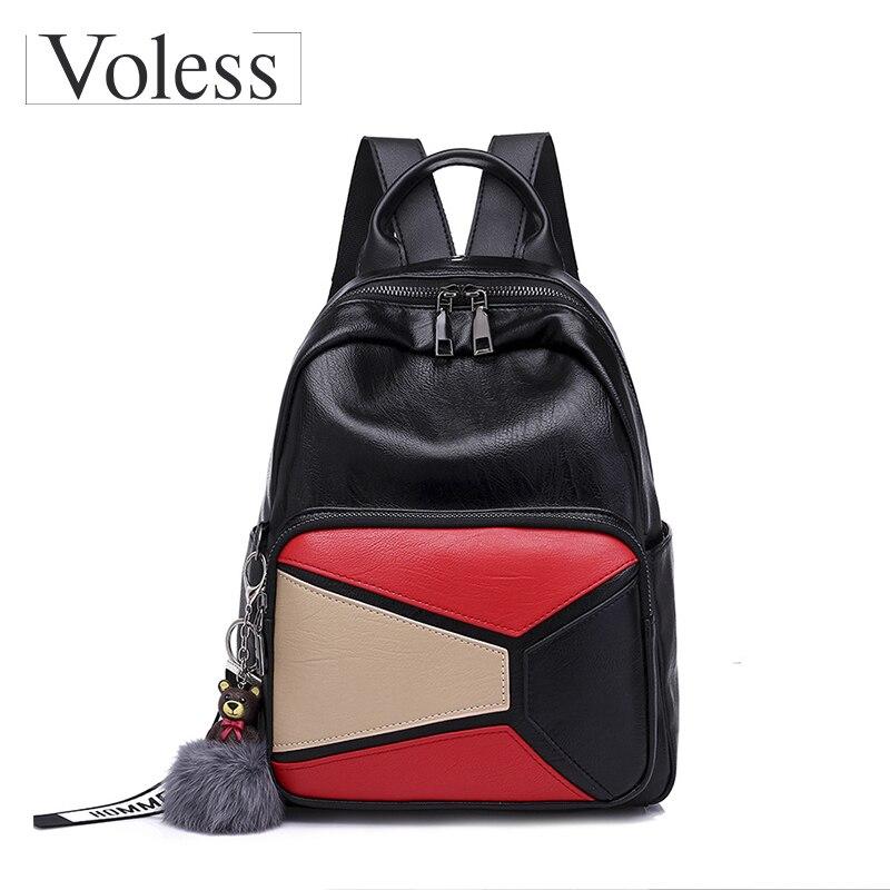 3297a219fac6 Voless Brand Női hátizsákok Kiváló minőségű PU bőr táskák Fashion ...