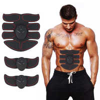 EMS Abdominal Muscle trainer Muscle Stimulator Electronic Muscle Exerciser Machine Body Slimming Shaper Fat Burning Gym Fitness