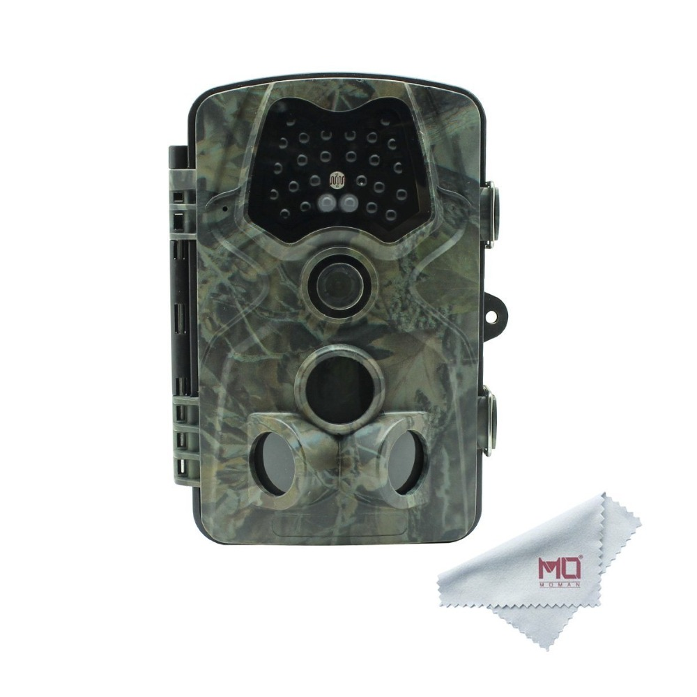 Moman Game Hunting Trail Camera 1080P 12MP with 120 Degree Detection, 66ft Night Vision Infrared Waterproof for Farm Security цена и фото