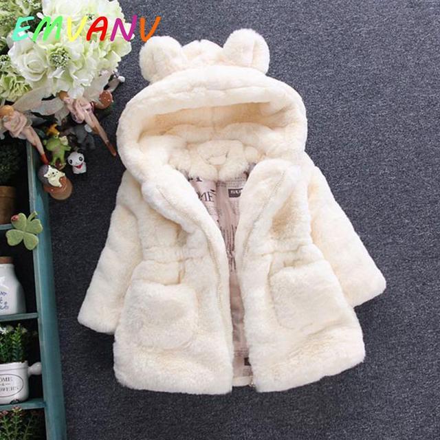 b2f72b366bf4 2018 New Toddler kids baby Winter Coat girls Warm coat faux fur ...