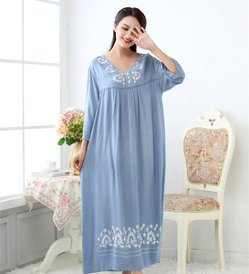 Image 5 - Fdfklak M XXL plus size women sleepwear lingerie cotton sleep dress sexy long nighties for women nightgown Spring autumn