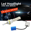 H1 H3 H4 H7 H11 9005 H13 LED Head Light H7 LED 40W 6000K 12V/24V 4800LM Car Xenon White Headlight Lamp High Low Kit Globes Bulbs