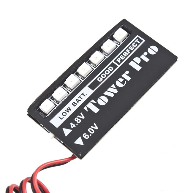 Hot Low voltage Monitor RC Receiver battery Indicator 7 LED New Sale