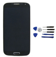 For Samsung Galaxy s4 I9500 Lcd touch screen display with digitizer Assembly Bezel Frame + Free Tools Black good quality