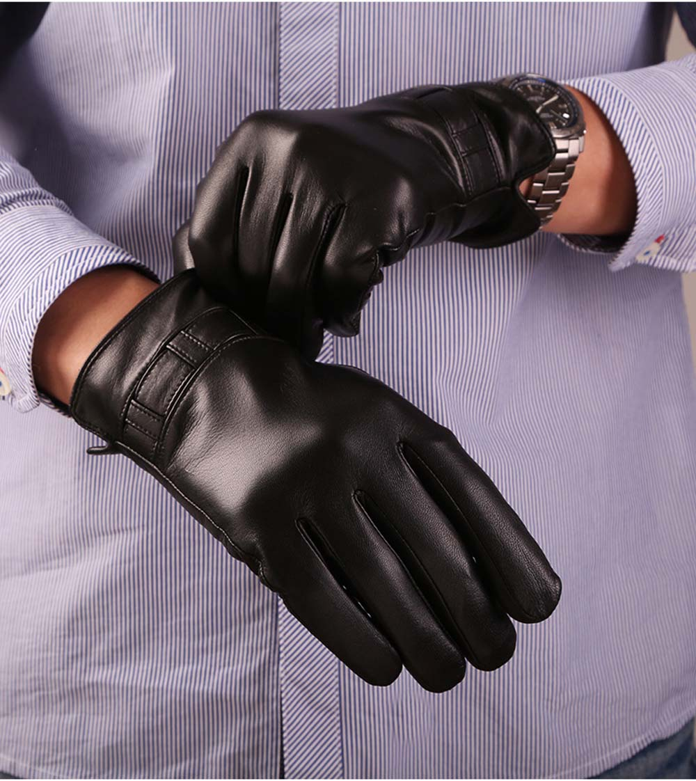 Driving texting gloves - Luxury Men S Touchscreen Texting Winter Italian Nappa Leather Dress Driving Gloves Cashmere Wool