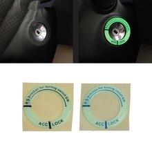 Автомобильный светящийся брелок для ключей, кольцевая наклейка, светящаяся Крышка зажигания, наклейка на мотоцикл