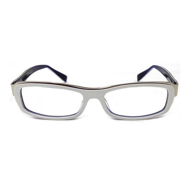 Laura Fairy Fashion Style Color Block White Glasses Frames Full Rim ...