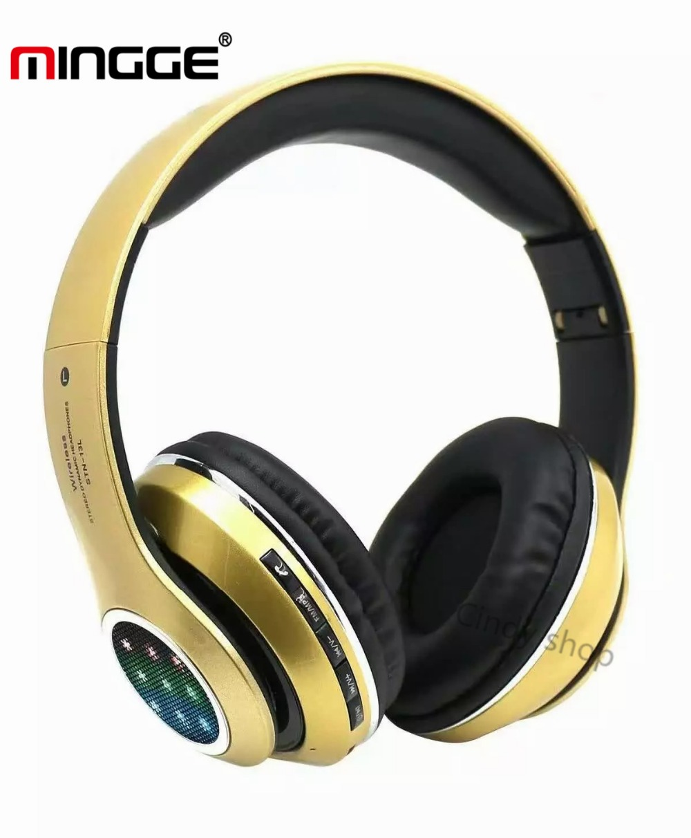 Original STN-13L Deep Bass Wireless Stereo Bluetooth Headphone Noise Cancelling Headset Mic TF Card FM Radio Earphone - Cindy's Store store