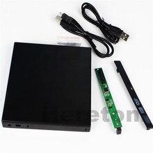Heretom тонкий abs-пластик USB 2,0 12,7 мм IDE/PATA на SATA внешний CD оптический dvd привод Корпус для ноутбука