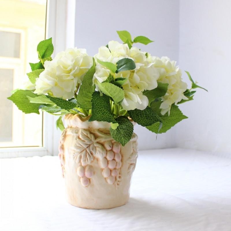 40 cm Hydrangea Stem umělé falešné hedvábí květina pro domácí dekorace svatební party dekorace živé krásné květiny