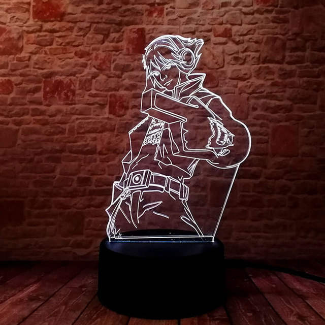 Luminous Lol Ezreal Model 3d Illusion Led Lamp Colorful Touch