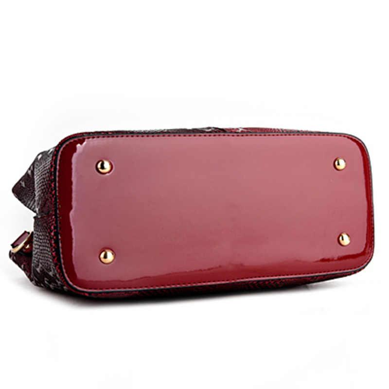 171c5e3c4628 ... Новая модная обувь из кожзаменителя Для женщин сумка женская Роскошные  Змея сумки на плечо дизайнер Сумки ...