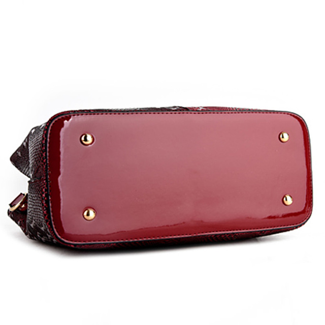 New Fashion PU Leather Women Bag Ladies Luxury Snake Shoulder Bags Designer Handbags High Quality