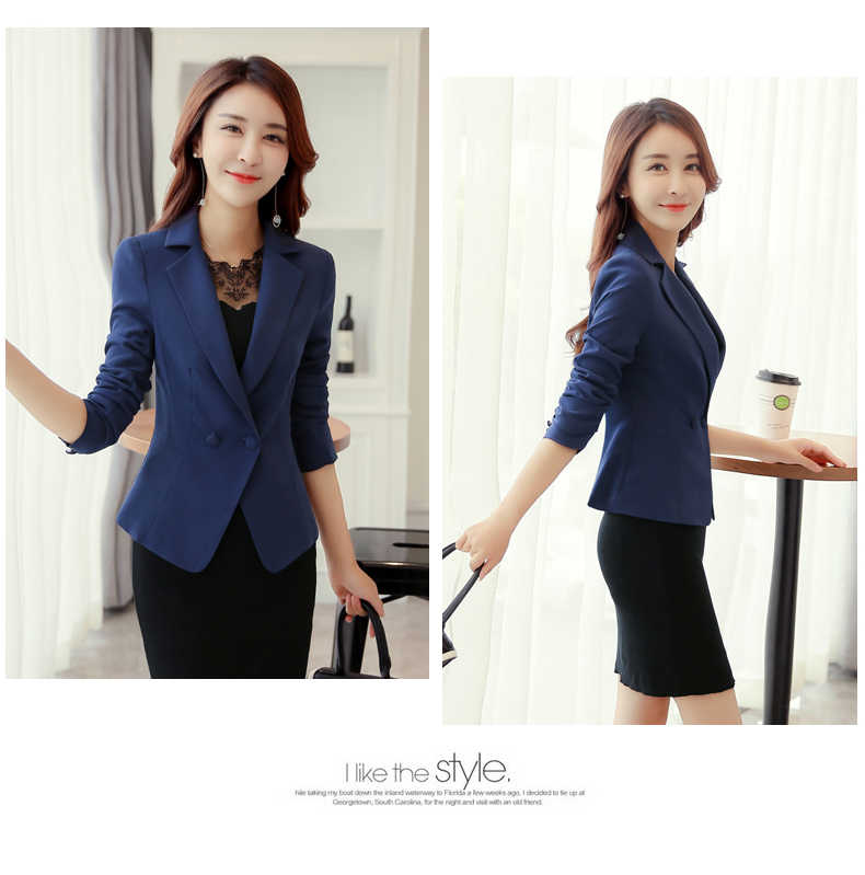 f8cf2dbc691 ... Ladies Short Blazers and Coats Plus Size Office Work Long Sleeve Red  Small Suit Bodycon Blazer ...