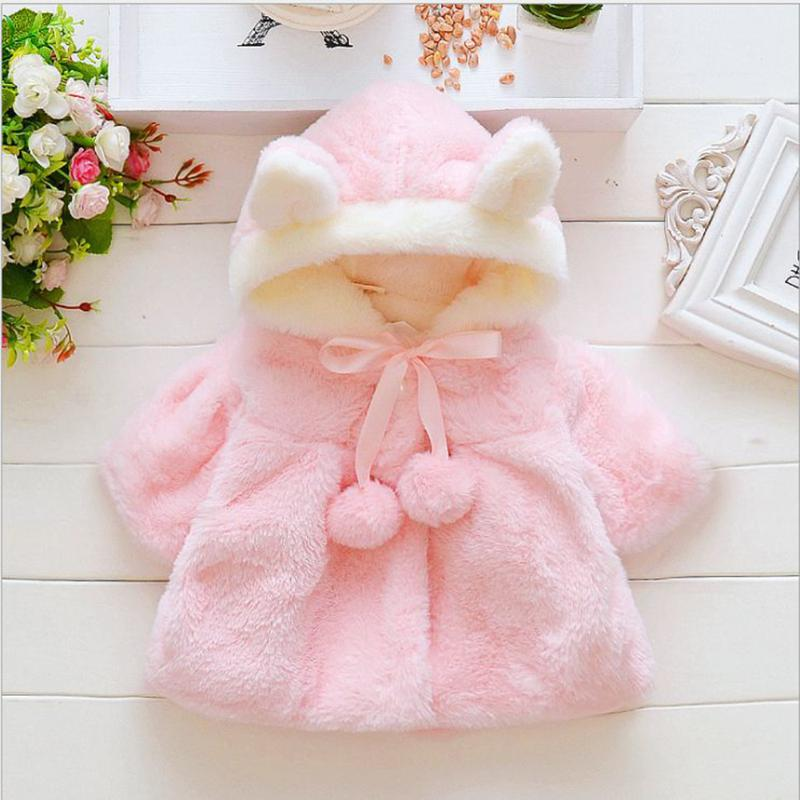 339b7781a Baby Girl Winter Clothes Toddler Cartoon Rabbit Ears Hooded Coat ...