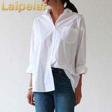 Casual Loose Women Shirts 2018 Autumn New Fashion Collar Plus Size Blouse Long Sleeve Buttons White Shirt Tops Streetwear