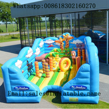 PVC commercial inflatable jumping bouncer slides  kids