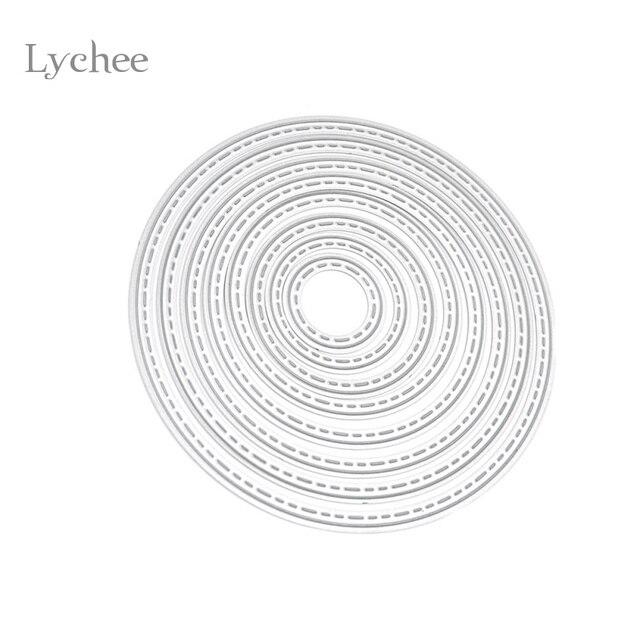 lychee diy circle metal cutting dies stencil embossing card