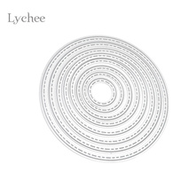 Lychee DIY Circle Metal Cutting Dies Stencil Embossing Card Scrapbooking Album Decoration Craft Die Cutting Template Folder Suit