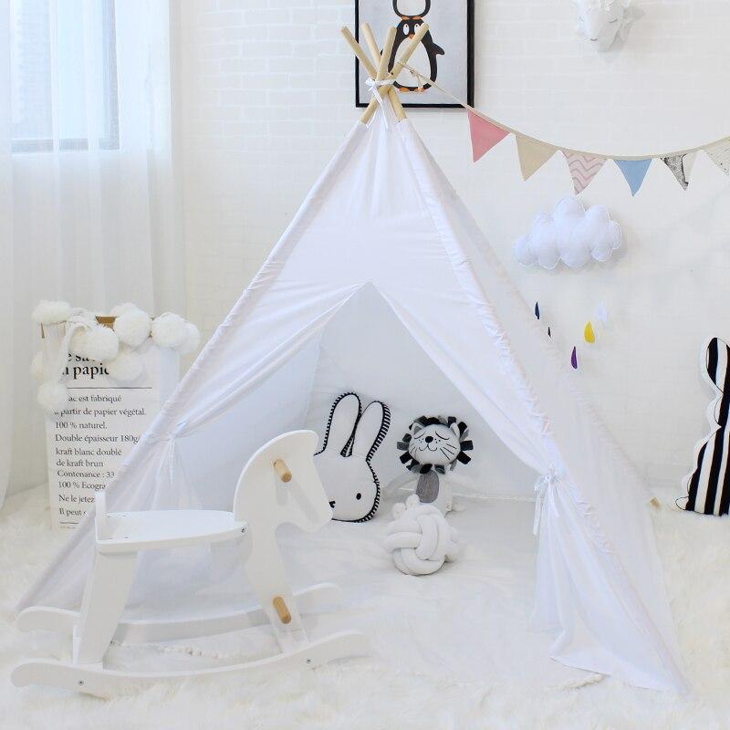 Tente d'enfants Jeu maison de jeu Pour Enfants tente tipi Bébé Chambre Décoration Pliable Tipi Jouet Enfant Cabine Wigwarn Supplémentaire 5 USD Coupon