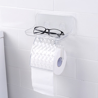 A1 Free punching bathroom roll paper holder wall hanging bathroom tissue box storage shelf toilet paper tray wx8171738