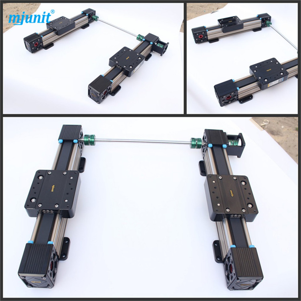 MJUNIT belt drive linear guide and CNC Guide Rail Square Slide Unit Linear Motion mjunit xy postioning axis linear motion shaft support series slide cnc aluminum rail high quality