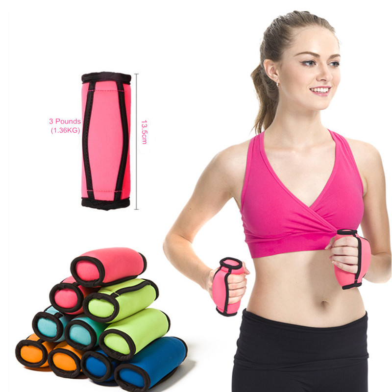 1 Paire Sport Haltère Poids Perdu Aérobic Exécutant Yoga Gym Fitness Barbell pour femmes Exercice Formation Fitness Equipment