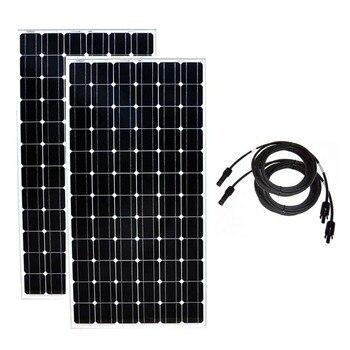 Zonnepaneel 24 Вольт 200 Вт 2 шт. солнечные панели 400 Вт 48 В Chargeur Solaire батарея караван солнечное зарядное устройство для мобильных лодок