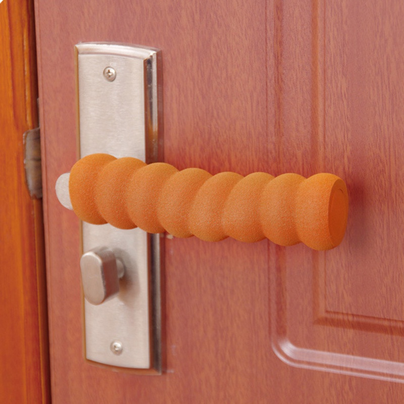Door Handle Covers Soft Foam Baby Safety Protector Spiral Shape Door Handles Cover Anti-collision Head