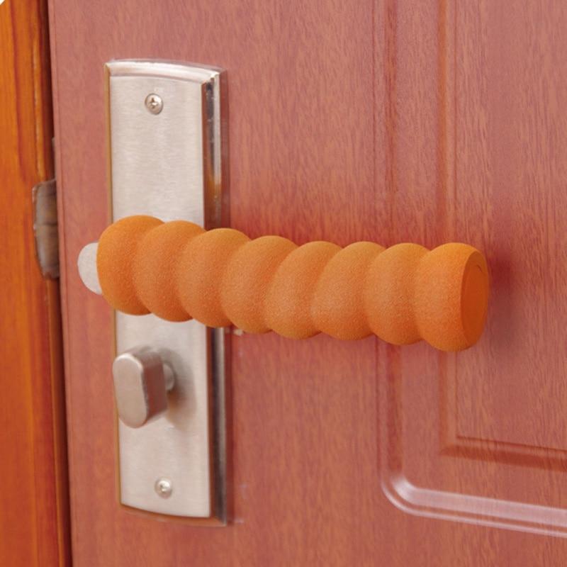 Door Handle Covers Soft Foam Baby Safety Protector Spiral Shape Door Handles Cover Anti-collision Head