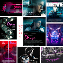 цена на Drive Ryan Gosling Posters Movie White Coated Paper Prints High Definition Clear Image Home Decoration Livingroom