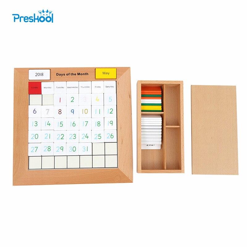 Montessori enfants 3D Puzzle bois bébé jouet pour enfants Preskool éducatif nouveau calendrier maths jouet Brinquedos Juguets